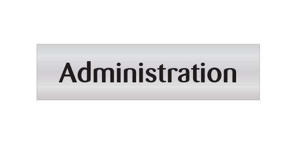 Administration Door Sign